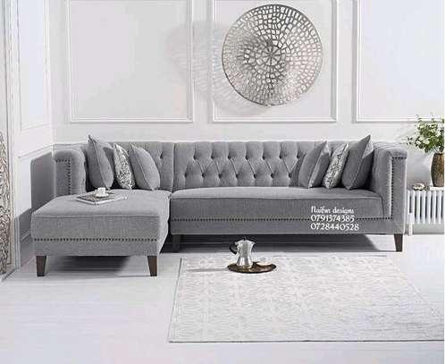 Five seater sofas/grey sofas/Chesterfield sofas image 1