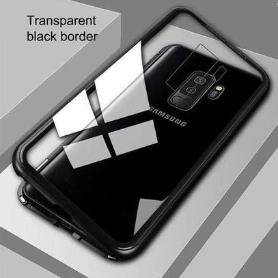 Magnetic Luxury Cases For Samsung S8 S8 Plus With Tempered Back Glass image 2