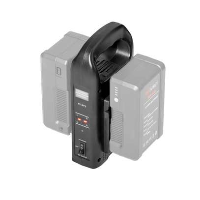 Dual Channel V-Lock Battery Charger+2 batteries