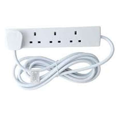 4 Way Extension Cable - White image 1