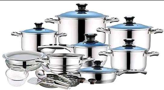 21pc stainless steel cookware image 1