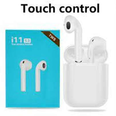 i 11 tws airpods Touch Control Wireless Bluetooth Headphone image 1