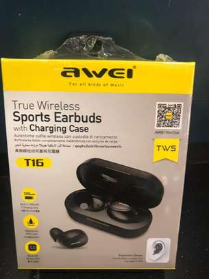 Awei T16 TWS Wireless Charging In-ear Stereo Bluetooth 5.0 Earphones image 7