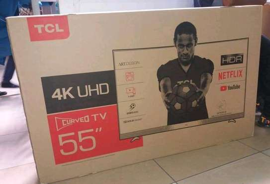 55 inch TCL smart UHD 4K Curved image 1