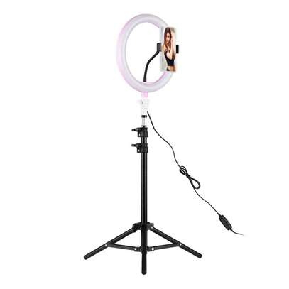 Ring Light 10inch 26cm Lamp Dimmable Photography Studio Phone Video With 150CM Tripod Selfie Stick image 1
