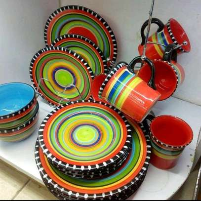 Maasai/african 24pc dinner set