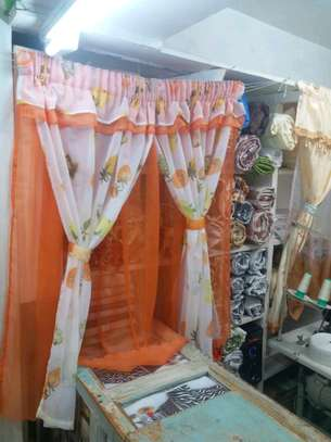 kitchen curtain 200cm width by 120cm height image 1