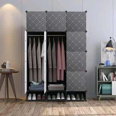 3 column Portable plastic wardrobe