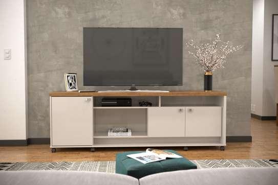 TV UNIT DALLAS OFFWHITE /ALMOND image 2
