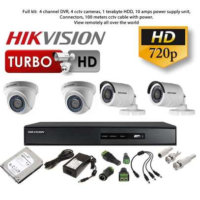 720p Hikvision 4 cameras kit dome and or bullet cameras