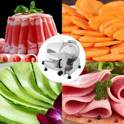 Commercial Meat Slicer, 10 inch Electric Food Slicer, 240W Frozen Meat Deli Slicer, Semi-Auto Meat Slicer For Commercial and Home use image 1