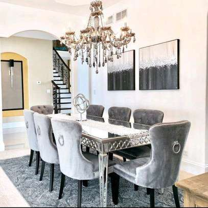 Latest eight seater dining table set for sale in Nairobi Kenya/Mirrored dining tables for sale in Nairobi Kenya/dining chairs for sale in Nairobi Kenya image 1