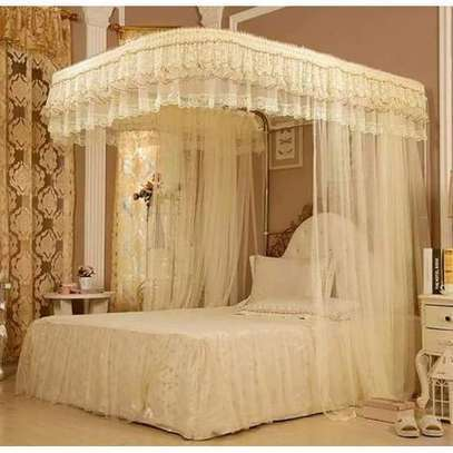 2 Stand Mosquito Net With Rails Cream 4*6, 5*6, 6*6 image 1