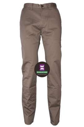 Tan Tommy Hilfigure Slimfit Soft khaki Trouser