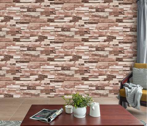 rustic effect self-adhesive wall paper image 1