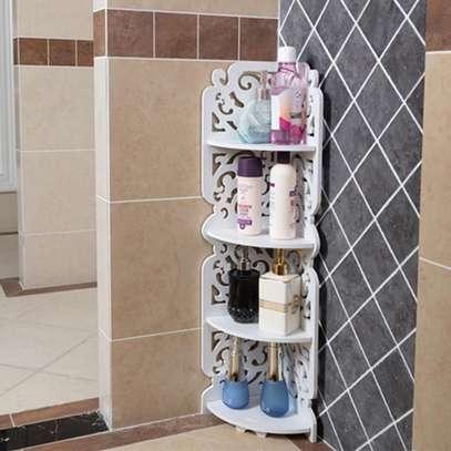 4 Tier Multipurpose Corner Decor Shelf image 1