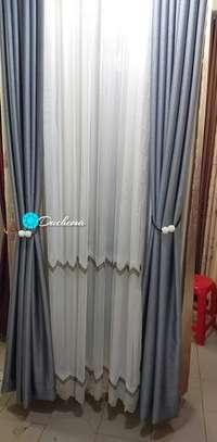 grey custom made curtains image 1