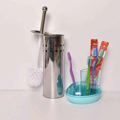 Toilet and tooth brush holder image 1