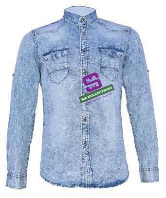 Slim Fit Denim Shirt image 1
