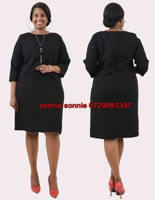 PLAIN BLACK SHIFT DRESS image 1
