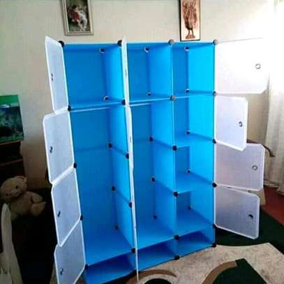 4 column plastic wardrobe image 3