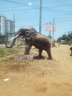 Elephant sculpture image 1