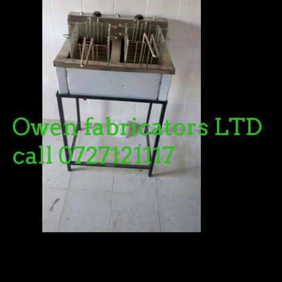 Stainless steel double basin Chips fryer image 1