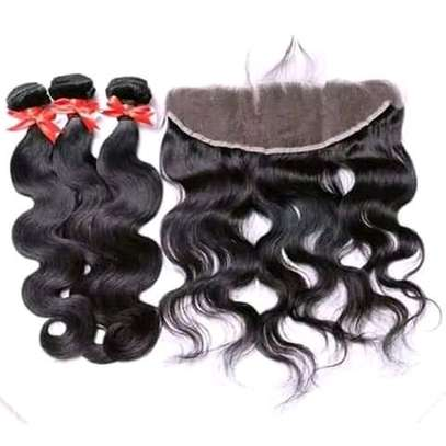 3BUNDLES WITH FRONTAL AVAILABLE IN STOCK image 1