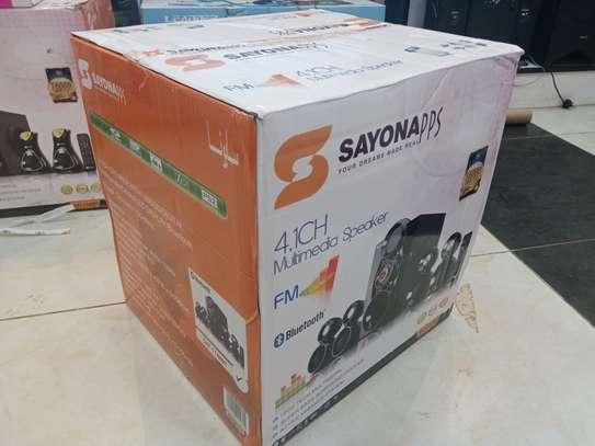 Sayona Subwoofer 4.1 Fm Radio Bluetooth image 1
