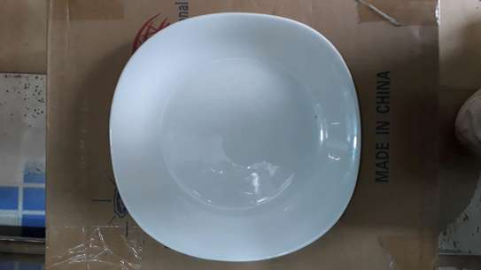 6pc square dinner plate/Round dinner plate/Glass plate/Flowered plates image 5
