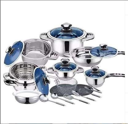 Stainless steel cooking set image 1