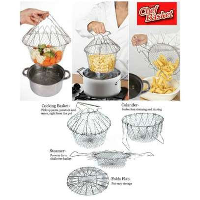 Chef Buddy Stainless Steel Steam / Fry / Wash Strain Basket (+ Free Gift Hand Towel). image 5