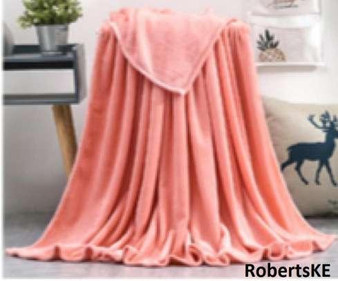 peach fleece blanket image 1