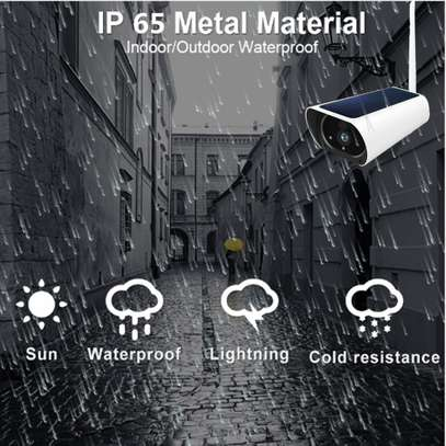 Wireless Outdoors Solar Powered Cctv WiFi Bullet 1080P image 2
