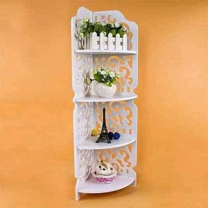 Triangle 4layer corner shelf image 1
