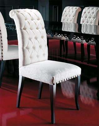 Handsome Stylish Modern Quality Tufted Dining Chair image 1