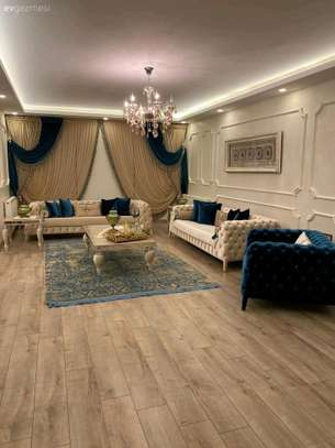 Seven seater chesterfield sofa set/Three seater cream chesterfield sofas/blue single seater chesterfield sofas for sale in Nairobi Kenya image 1