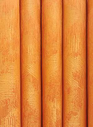 curtains orange plain  heavy fabric image 1