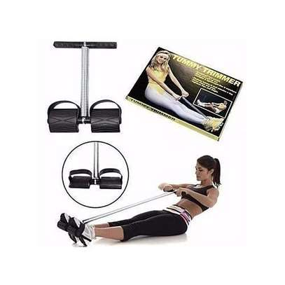 Tummy Trimmer Portable Belly Slimming Tummy Shaper Leg Pedal Exerciser Pull Up Resistance Bands image 1