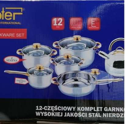 Cooking pots stainless steel set image 1