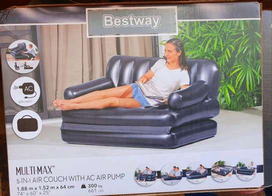 2 Seater inflatable pullout sofa image 2