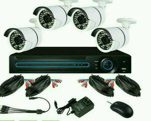 4 CCTV CAMERA FULL SET image 1