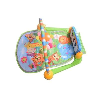 Generic Piano Play Gym Playmat - Blue image 4