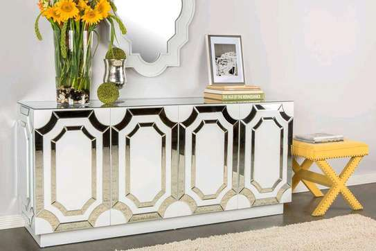 White mirrored buffet table ideas/Best buffet set/best buffet cabinet ideas,designs and inspo/Classic Console tables for sale in Nairobi Kenya/Top rated dining room Furniture manufacturers in Nairobi Kenya image 1
