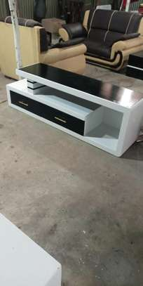 White and black TV stand image 2