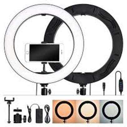 14inch Dimmable LED Ring Light Makeup Video Ring Lamp image 1