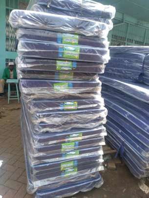 3½ by 6 Medium Density 4 thick blue students' mattress brand new free delivery image 1