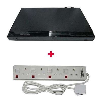 Smart Usb Record and Play DVD Playe with Free 4 Way Astrar Cable - Black image 1