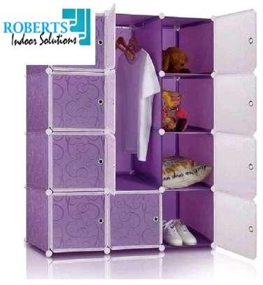 Purple plastic wardrobe image 1