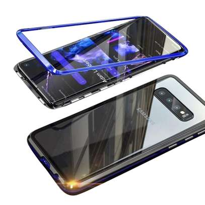 Magnetic Luxury Cases For Samsung S10 S10e S10 Plus With Tempered Back Glass image 5